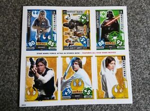 Topps-Star-Wars-Force-Attax-Universe-Promo-Sheet-Mint-condition