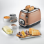 ARIETE CLASSICA0158 Tostapane 2 FetteClassic ToasterRame Bronzo Perla
