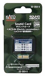KATO-N-gauge-sound-card-ACS-64-electric-locomotive-22-203-3-model-railroad-supp