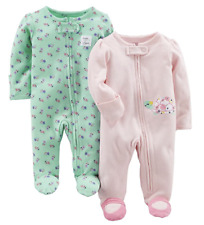 Simple Joys by Carters Baby Girls 2-Pack Cotton Footless Sleep and Play
