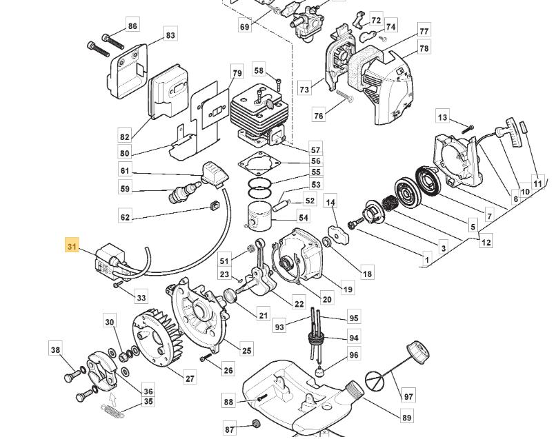 MacAllister MGTP 254 Bobine d/'allumage FITS MBCP 254 118801231//0 Authentique
