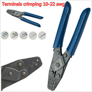1× Open Style Crimp Tool Wiring Harness Crimper Open Barrel 22-10 AWG Plier Tool