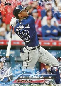 2018 Topps Holiday Ronald Acuna Jr. #HMW50 Rookie Card (RC)