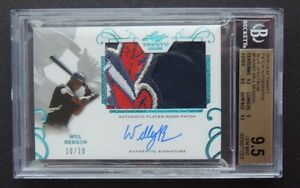 2016-Leaf-Trinity-Will-Benson-Rookie-Patch-Auto-10-10-Blue-Indians-BGS-9-5-Wahoo