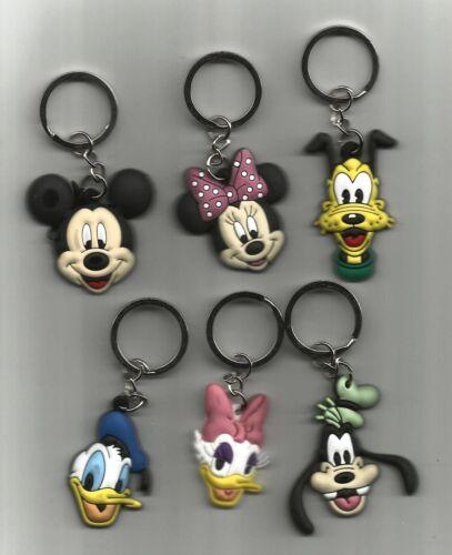 PVC Pluto or Goofy Key Chain-Mickey Donald Minie Choice Daisy