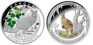 2013-Kangaroos-of-the-world-1-amp-20-Zloty-pair-Silver-Proof-Issue-Price-190