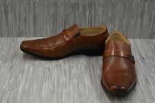 Stacy Adams Men/'s Shaw Moc Toe Slip-on Loafer Cognac Leather 25160-221