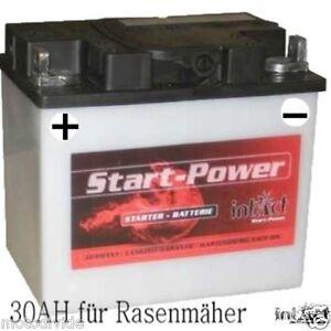 intact 53034 aufsitzm her rasentraktor batterie 12v 30ah plus pol links ebay. Black Bedroom Furniture Sets. Home Design Ideas
