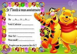 5 Cartes Invitation Anniversaire Winnie L Ourson 03 Ebay