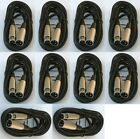 10 lot 10ft xlr male female 3pin MIC Shielded Cable microphone audio cord pack