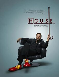 New-TV-Poster-Print-House-MD-Hugh-Laurie-BUY-ONE-GET-ONE-FREE-A3-A4