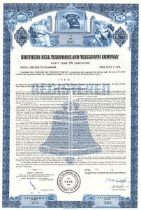 Southern-Bell-Telephone-and-Telegraph-bond-certificate
