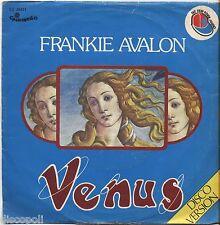 """FRANKIE AVALON - Venus - VINYL 7"""" 45 ITALY 1976 VG+ COVER  VG- CONDITION"""