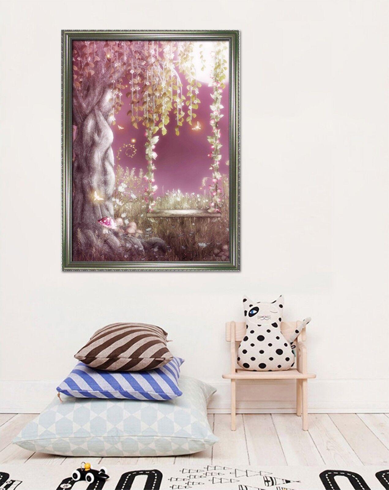 3D Moonlight Grove 665 Fake Framed Poster Home Decor Print Painting Unique Art