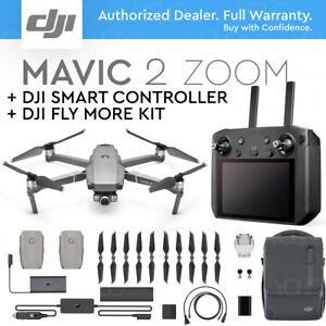 DJI-MAVIC-2-ZOOM-DJI-SMART-REMOTE-CONTROLLER-5-5-034-HD-DISPLAY-FLY-MORE-KIT