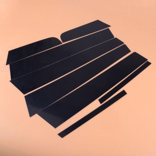 Glossy Black Pillar Posts fit for  Mazda 3 2006-2012 8pcs Set Window Trim Cover