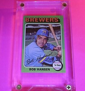 1975-Topps-508-Bob-Hansen-RC-Rookie-Brewers-High-Grade-MINT-Centered-amp-sharp