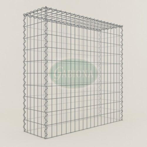 Maschenweite 5 x 10 cm Gabionen ANBAU-GABIONE Typ3 Steinkorb 100 x 100 x 30 cm