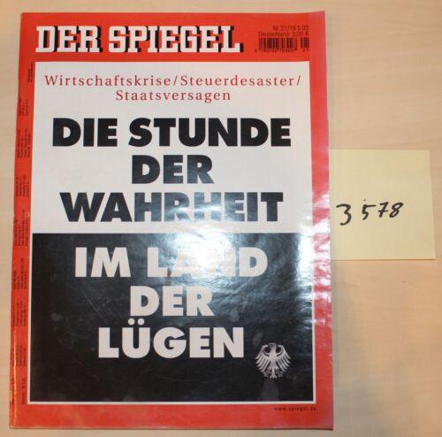 1 von 1 - Der Spiegel Die Stunde der Wahrheit Heft vom 19.5.03 Nr.3578