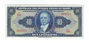 10 Cruzeiros Brésil 1943 c018/p.135 - Brazil billet