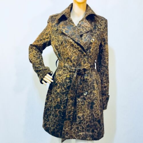 Srp M Brown Cache Size Trench Cheetah 228 Nwt Coat OWWyAFgc