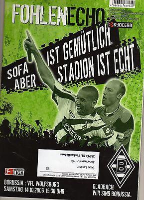 Fohlen Echo 14.10.2006 Borussia MÖnchengladbach - Vfl Wolfsburg 3:1 Und Verdauung Hilft