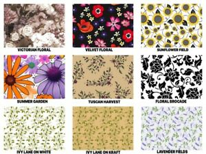 "FLORAL Print Gift Tissue Paper Sheets - 15"" x 20"" Choose Print & Package Amount"