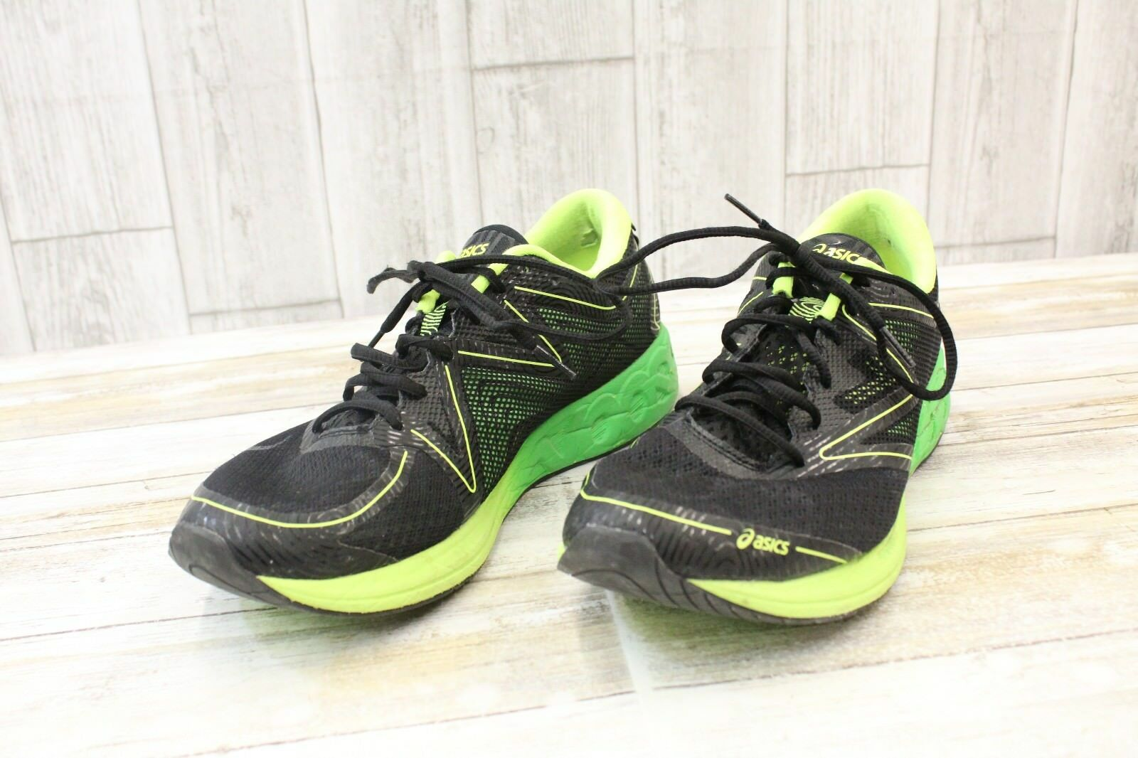 096f9d214a6f4 Asics Noosa FF Athletic shoes Men's Size 11.5, Black Green Gecko ...
