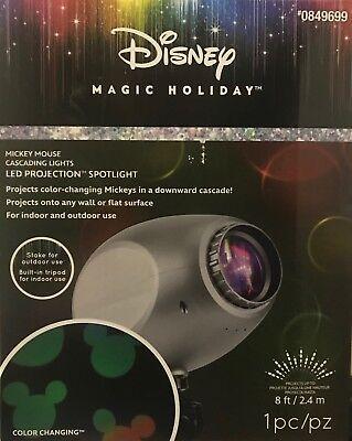 Disney Magic Holiday MICKEY MOUSE Cascading Lights LED Projection Spotlight