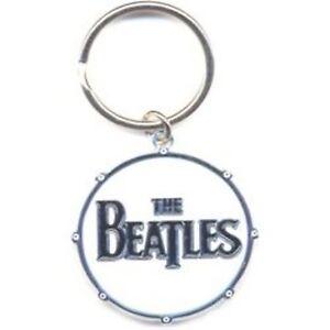 The Beatles Drop T weißen Logo Metall Kreis keychain offiziellen