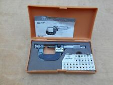Mitutoyo 0 1 001 Digital Thread Measuring Micrometer 226 137 With 2 Anvil Set
