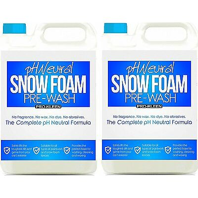 Genuine Pro-Kleen pH Neutral Snow Foam CAR WASH SHAMPOO WAX PRESSURE WASHER 10L