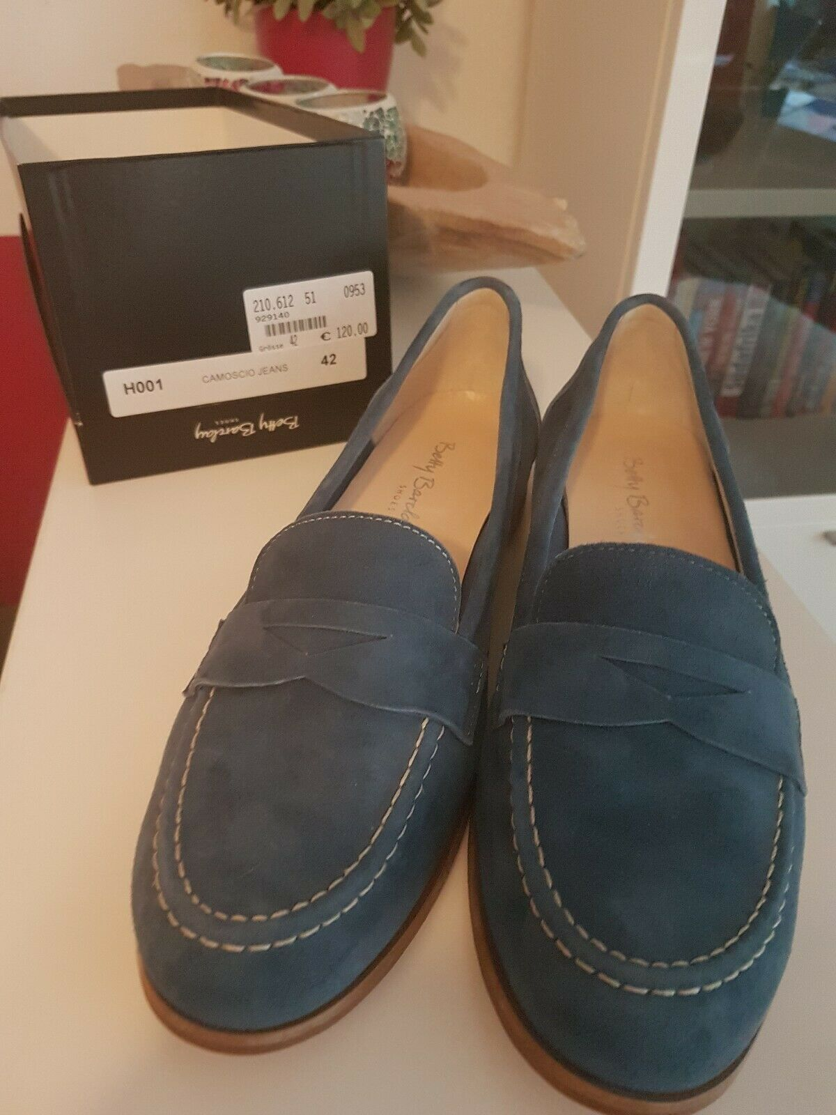 Betty barclay 42 Slipper Neu NP  blau