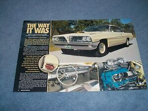 Details about 1961 Pontiac Catalina Super Duty Tribute Article