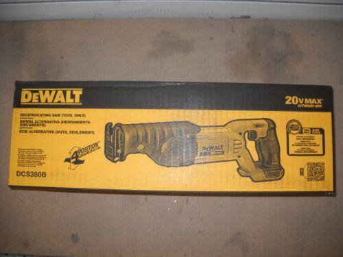 DeWALT DCS380B 20V 20 Volt MAX Li-Ion Cordless Reciprocating Saw Sawzall New