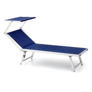 Lettino in alluminio da mare blu offerta prestagionale x2 pezzi per lidi ebay - Lettino piscina alluminio ...