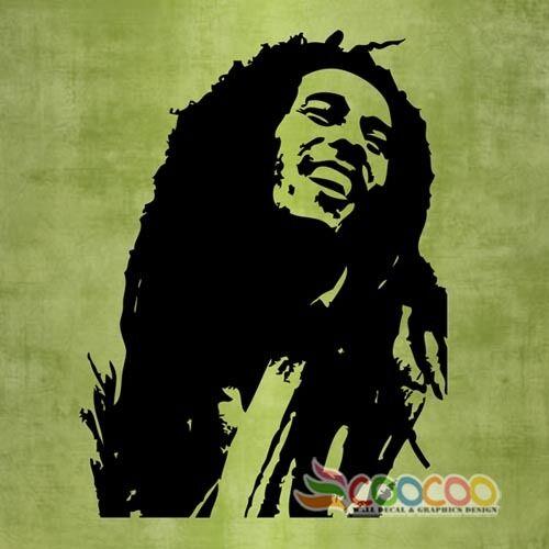 Wall Decor Decal Sticker Mural Removable Music Musician Singer Bob Marley DC0101