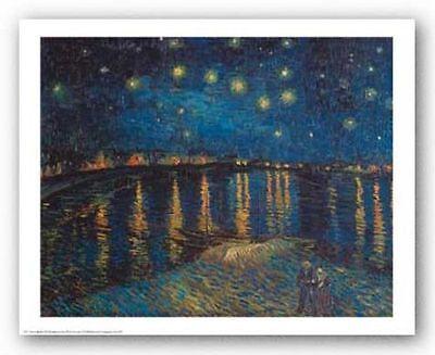 MUSEUM ART PRINT Starlight Over the Rhone Vincent Van Gogh 19.5x24.5
