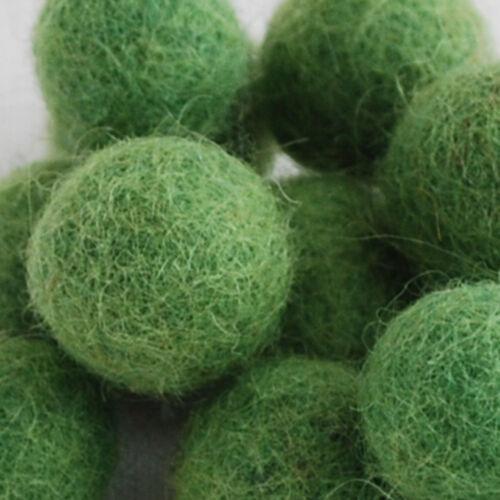 100 comte-Handmade-Pick /& Mix de 72 couleurs 100/% Laine Felt Balls 1.5 cm