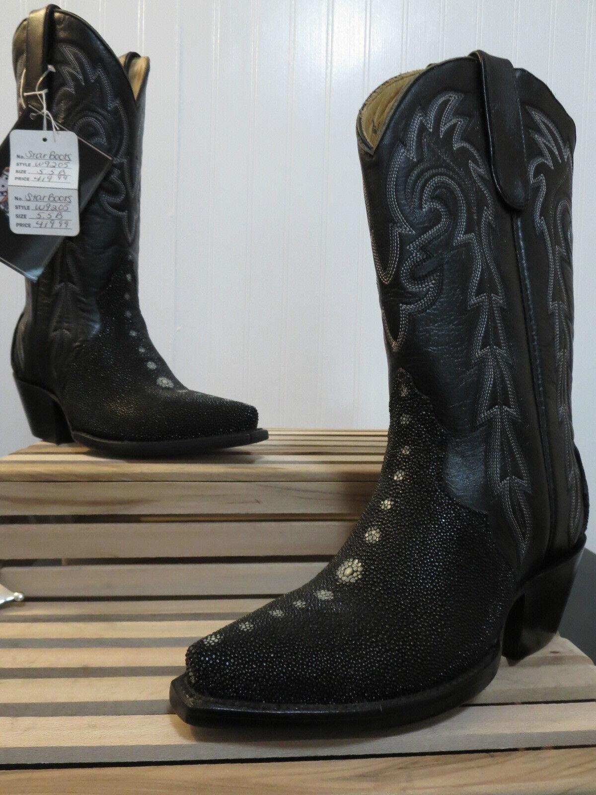 Star Boots Women's Black Stingray Triad Boot W9205 Size 5.5 B, NEW