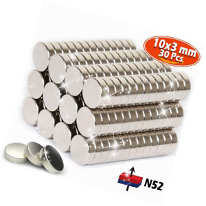 Grade N 30 pack of Strong heavy duty refrigerator Rare earth Neodymium magnets