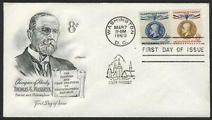 #1147 & 1148 T. G. Masaryk, Artmaster [8] con Dirección FDC Cualquier 5=