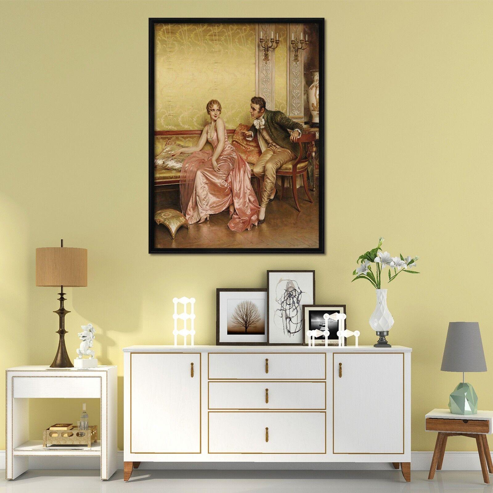 3D Europe Noble Painting 3 Framed Poster Home Decor Print Painting Art WALLPAPER