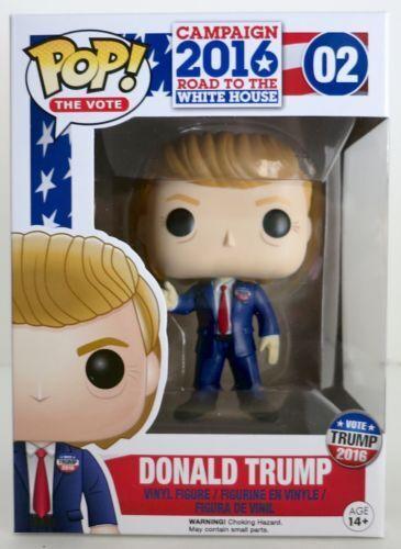 Funko Pop Pop Vinyl Donald Trump (in Funko perspex predective box) Sealed & NEW