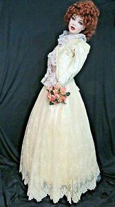 Details zu Antique Viktorianisch Kleid 8 Brautkleid Brussels Spitze Rock  Seide Eng Top