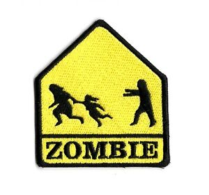 ZOMBIE-CROSSING-PATCH-UNDEAD-ZOMBIE-ATTACK-IRON-ON-TO-SEW-ON-ZOMBIE-PATCH