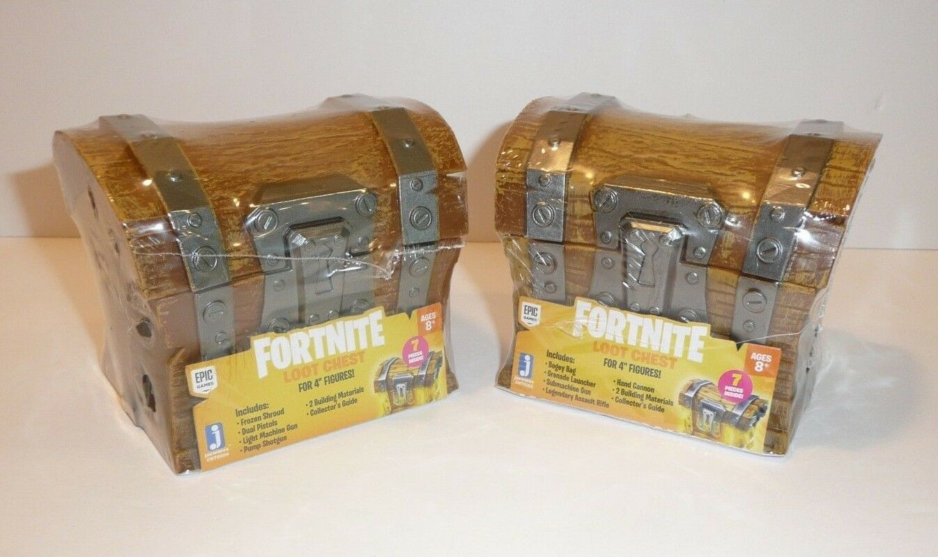 Lot of 2 DIFFERENT Fortnite Loot Chests Weapons Accessories for Action Figures