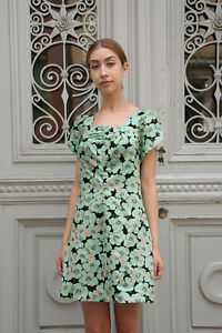 femme True d'été 60 fleurs robe Floral True des femmes robe années Robe Mint pour z1Z5zqw