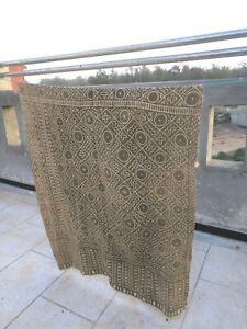 Antique-handmade-Bogolan-strip-textile-woven-mud-cloth-from-Mali-West-Africa