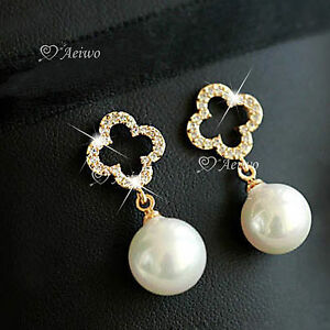 18K-YELLOW-WHITE-ROSE-GOLD-GF-MADE-WITH-SWAROVSKI-CRYSTAL-PEARL-STUD-EARRINGS